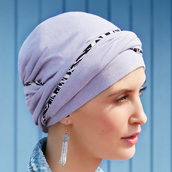 Emmy - V Turban - 0661 Lavender Grey with piping