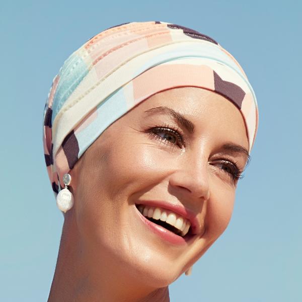 Yoga Turban - Printed 0647 Squares Angels/Pastels